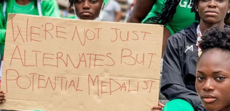 Nigerian Athletes Disqualified From Olympics Stages Protest In Tokyo [Photos] 7