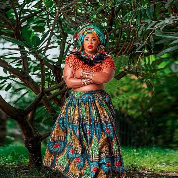 Veteran Nigerian Actress, Clarion Chukwurah Goes Topless For Her Birthday Photoshoot