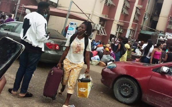 Unilag students vacating hostels