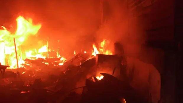 Fire Razes Goods Worth Millions Of Naira In Port Harcourt