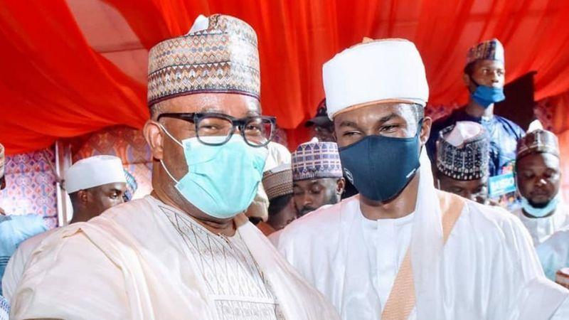 The Groom, Yusuf Buhari and Niger Delta Minister Godswill Akpabio