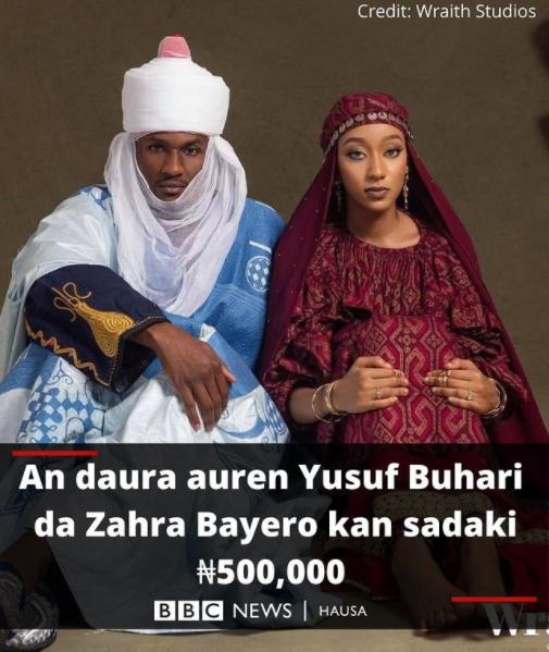 President Buhari's Son, Yusuf Weds Princess Zahra Bayero On N500 Dowry [Photos]