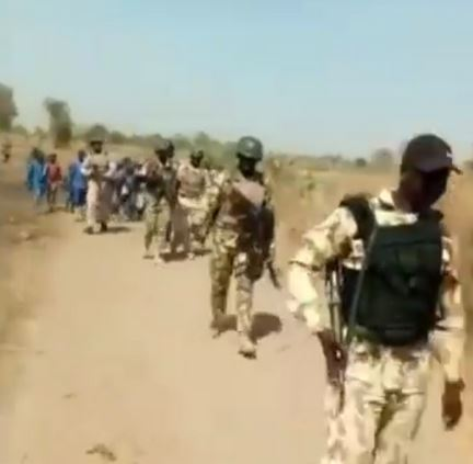 Video Of Soldiers Accompanying Children To School In North-Eastern Nigeria
