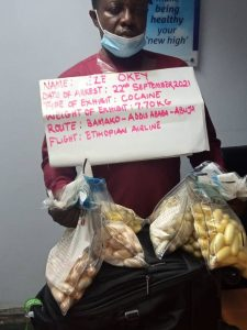 38-yr-old Nigerian makes biggest cocaine stash in 2021