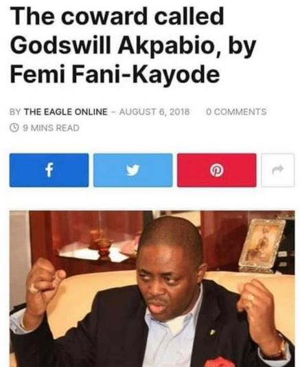Businesswoman, Blessing Osom Shares Throwback Piece By 'FFK Calling Akpabio A Traitor For Defecting To APC'