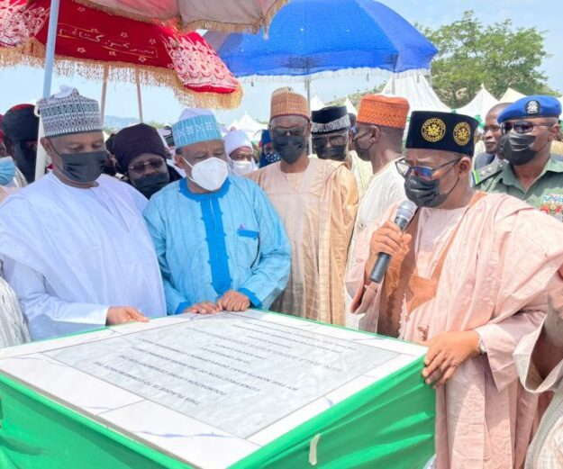 Gov Bala Mohd Lays Foundation For Mass Housing Project