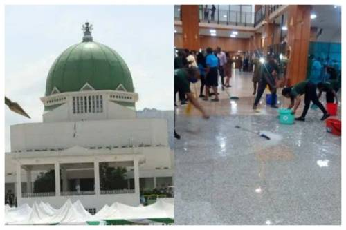 Lawmaker Protests Leaking Roof At Nigeria's National Assembly Complex