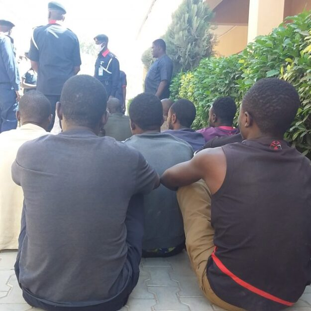 NSCDC parades 9 telecommunication vandalism suspects in Kano