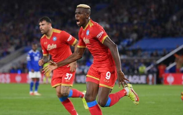 Osimhen bags brace, Ndidi sees red as Napoli hold Leicester City
