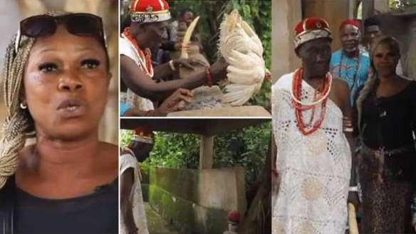 'Popular Pastors Come to Our Shrine to Get Power' – Wife of Anambra Chief Priest Makes Shocking Revelation (Photo)