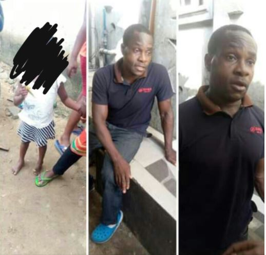 Shock As Man Is Allegedly Caught Sexually Abusing His Neighbour's Little Daughter In Port Harcourt