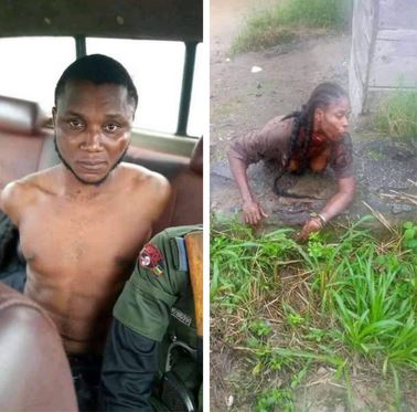 Suspected Internet Fraudster Arrested While Attempting To Behead His Girlfriend For Money Rituals In Bayelsa (Photos)