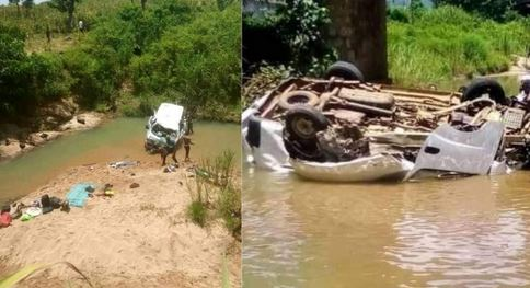 Tragedy As Four Die, Others Wounded As Bus Carrying Church Band Falls Into Taraba River