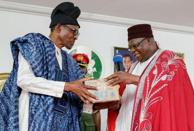 Buhari rejoices with Gbong Gwom Jos at 70