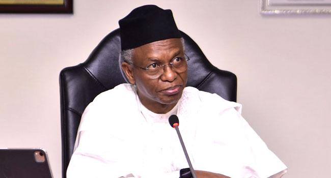 A file photo of Kaduna State Governor, Nasir El-Rufai.