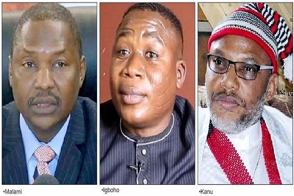 Govt links Igboho to Boko Haram sponsor; Kanu to #EndSARS protests