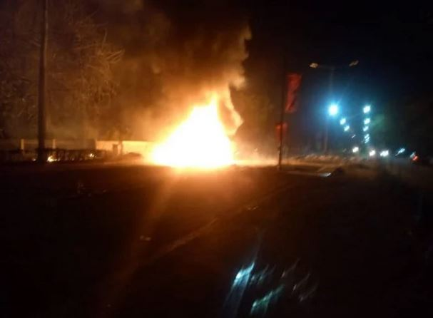 Horror! One Feared Dead As Hoodlums Burn Down School, Set Principal's Car Ablaze In Delta