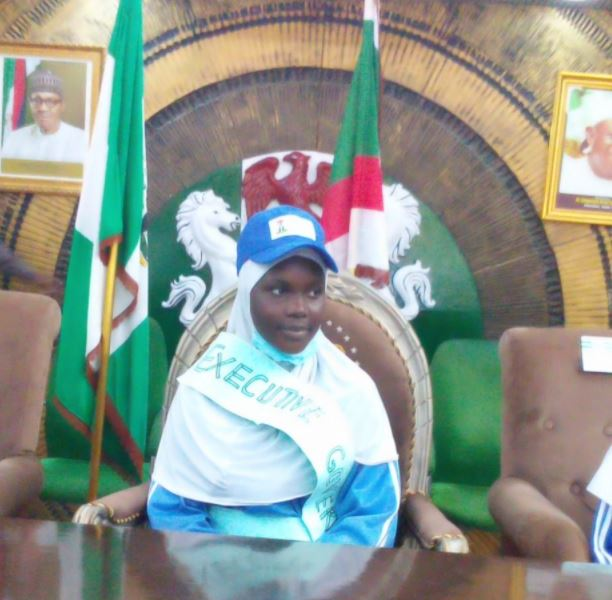 Meet the 14-year-old Lucky Girl Who Became Kano Governor for 20 Minutes (Photo)
