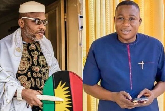 Nnamdi Kanu, Igboho's supporters, lawyers tackle Malami over terrorism accusation
