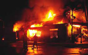 Panic as Traditional Ruler's Palace Is Set Ablaze In Imo State