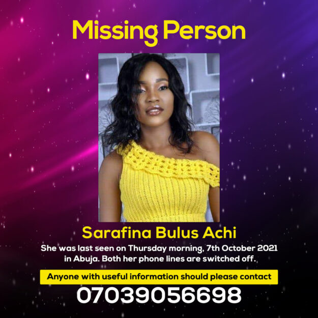 Photo Of Young Woman Who Was Declared Missing In Abuja