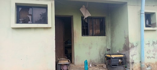 Photos of the Oyo Prison facility attacked by unknown gunmen