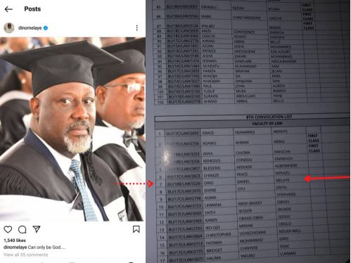 Senator Dino Melaye Did Not Graduate With A First-Class Degree From Baze University – Sources Reveal