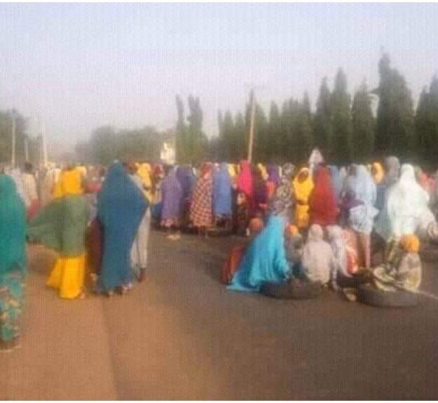 Serious Drama As Angry Zamfara Residents Stage Protest, Block Road Over Insecurity